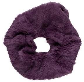 Adrienne Landau Fur-Trimmed Infinity Scarf