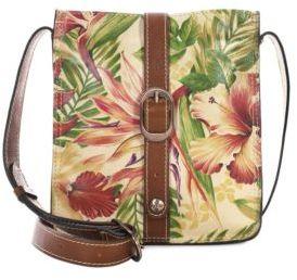 Patricia Nash Cuban Tropical Venezia Leather Crossbody Pouch