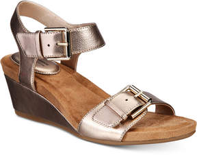 Giani Bernini Bryana Memory Foam Wedge Sandals, Created for Macy's Women's Shoes