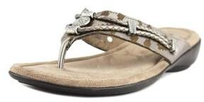 Minnetonka Silverthorne Women Ww Open Toe Canvas Thong Sandal.