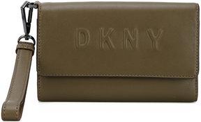 DKNY debossed logo wallet