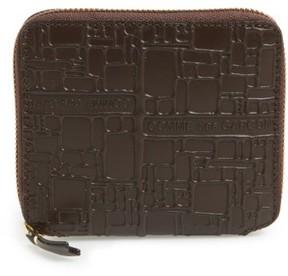 Comme des Garcons Men's Comme De Garcons Embossed French Wallet - Brown