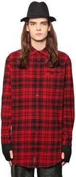 Cheap Monday Plaid Cotton Blend Flannel Shirt