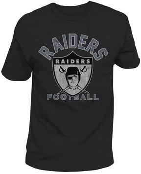 Authentic Nfl Apparel Men's Oakland Raiders Midfield Retro T-Shirt
