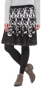Chelsea & Theodore Textured Knit Skirt (For Women)
