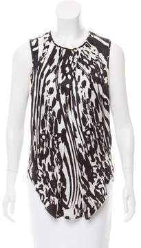 By Malene Birger Printed Silk Top