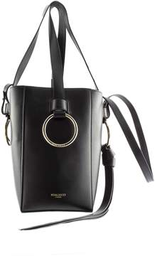 Nina Ricci Bucket Shoulder Bag In Black Leather.