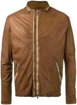 Giorgio Brato round neck zipped biker jacket