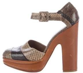 Marni Platform Snakeskin Sandals
