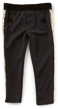 Flapdoodles Little Girls 2T-6X Sparkle Ponte Pants