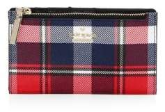 Kate Spade Mikey Plaid Leather Wallet