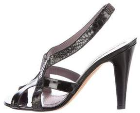 Anya Hindmarch Patent Leather Slingback Sandals