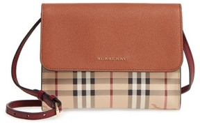 Burberry Peyton Check Coated Canvas & Leather Crossbody Bag - Beige - BEIGE - STYLE