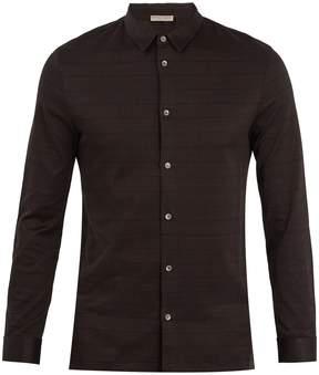 Bottega Veneta Checked single-cuff cotton-jersey shirt