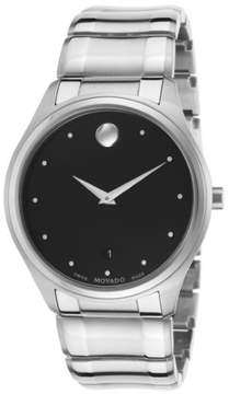 Movado Celo Black Dial Stainless Steel Men's Watch 0606839