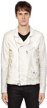 Giorgio Brato Leather & Suede Biker Jacket