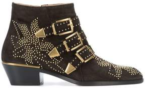 Chloé Suzanne micro-studded booties