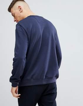 Pull&Bear Sweatshirt In Navy