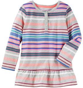Osh Kosh Toddler Girl Striped Empire Waist Henley Top