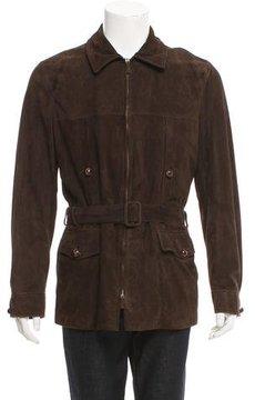 Ralph Lauren Black Label Belted Suede Coat