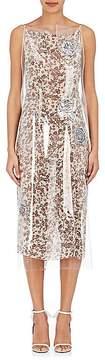 Calvin Klein Women's Plastic-Layered Wrap Dress