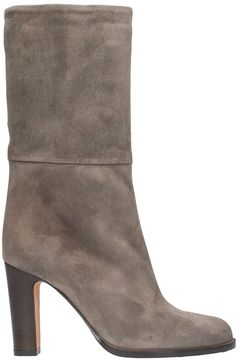 Julie Dee Suede Taupe Boots