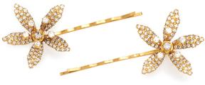 Jennifer Behr Petite Crystal Orchid Bobby Pin Set