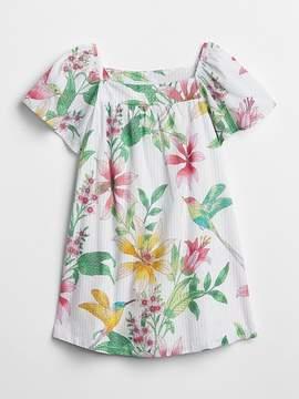 Gap Floral Square Neck Dress