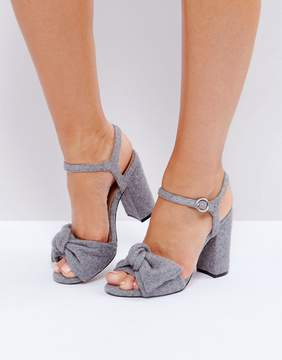 Asos HAZELLE Bow Block Heels