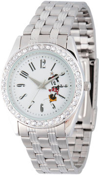 Disney Mickey Mouse Womens Silver Tone Bracelet Watch-Wds000383