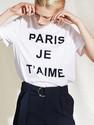 Paris Je Taime Lettering Tee White