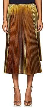 Cédric Charlier Women's Asymmetric Pleated Lamé Skirt