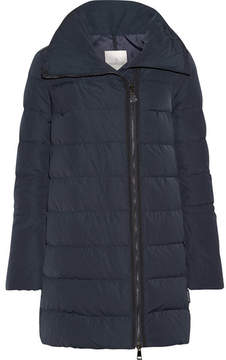 Moncler Lobelia Quilted Shell Down Coat - Midnight blue