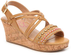 Jessica Simpson Girls Fallon Toddler & Youth Wedge Sandal