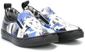 Roberto Cavalli printed slip-on sneakers
