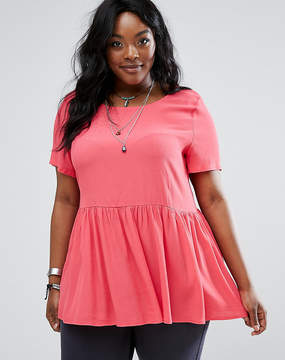 Alice & You Woven Top With Ruffle Hem