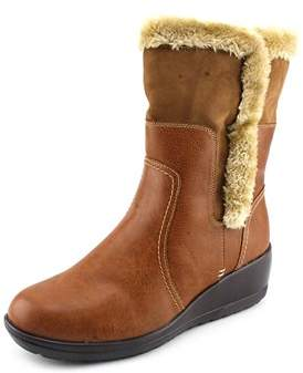 Softspots Corby Women Round Toe Brown Mid Calf Boot.