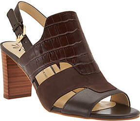 Isaac Mizrahi Live! Leather Sandals with Heel