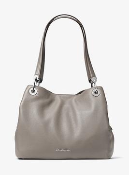 Michael Kors Raven Large Leather Shoulder Bag - GREY - STYLE