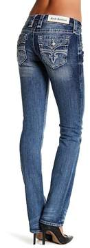 Rock Revival Distressed Straight Jeans