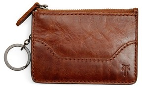 Frye Women's Melissa Leather Card Holder With Key Ring - Brown