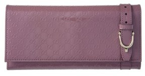 Gucci Nice Microguccisima Leather Flap Wallet.