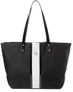 Lauren Ralph Lauren Bainbridge Striped Nylon Tote.