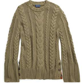 Ralph Lauren Cable Cotton Dolman Sweater