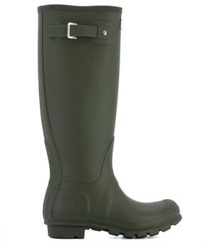 Hunter Women's Green Rubber Boots.