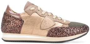 Philippe Model glitter panel sneakers