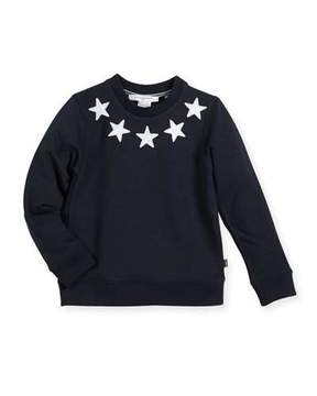 Givenchy Boys' Crewneck Sweatshirt w/ Star Patches, Size 6-10