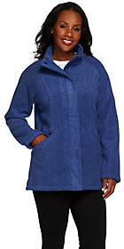 Denim & Co. As Is Fleece Zip Front Long Sleeve Jacket w/ Pockets