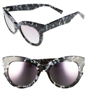 KENDALL + KYLIE Women's Charli 52Mm Cat Eye Sunglasses - Black/ White Marble