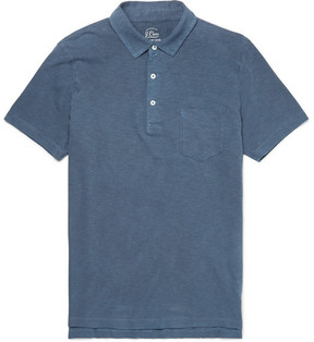 J.Crew Slim-Fit Garment-Dyed Slub Cotton-Jersey Polo Shirt
